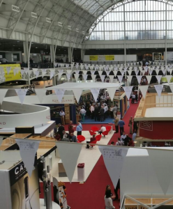 The crowds at the London Wine Fair 2014